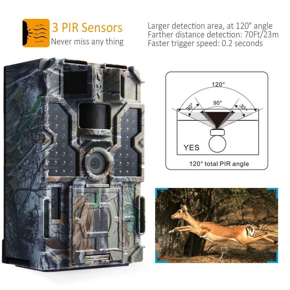 Cámara de CazaTOMSHOO sensor PIR