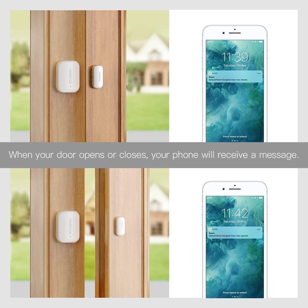 Sensor de puerta Koogeek como funciona