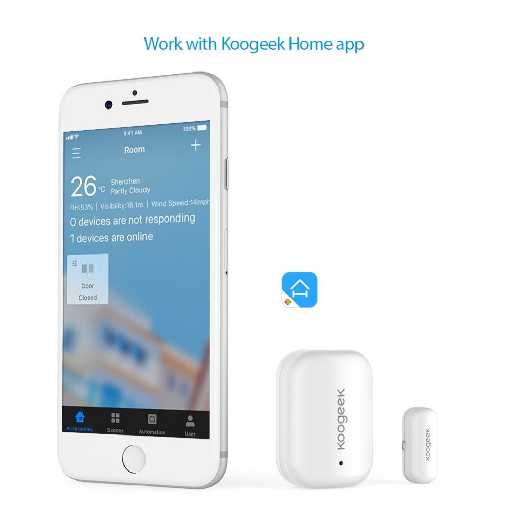 Sensor de puerta Koogeek sincronización