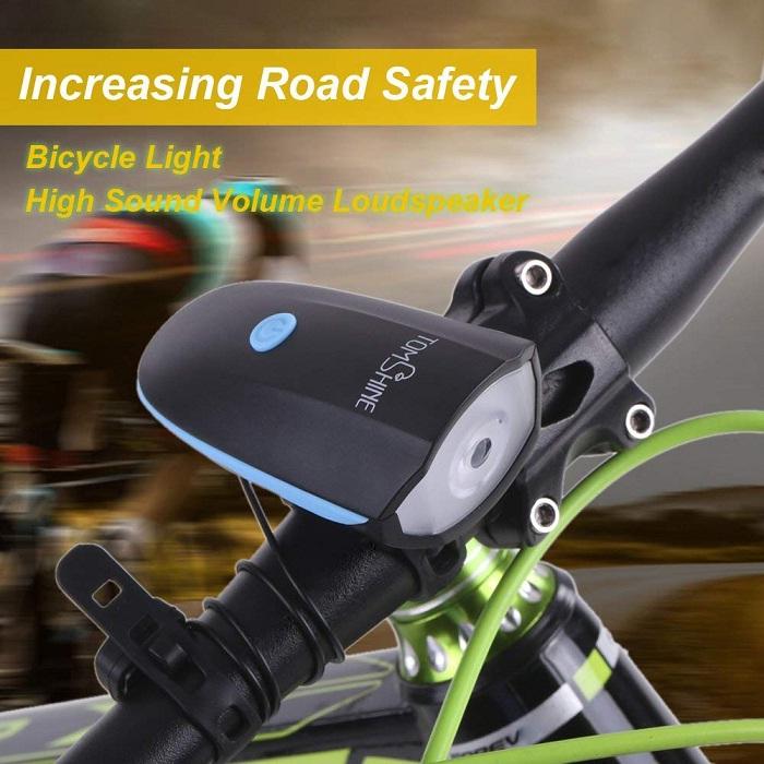 Tomshine Luz LED para bicicletas altavoz