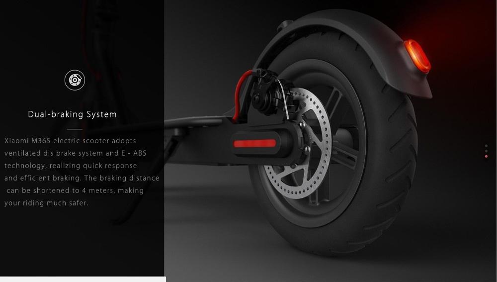 Xiaomi M365 Mijia diseño frenos