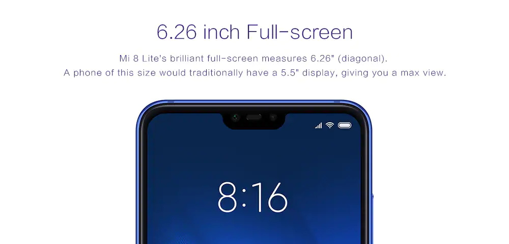 Xiaomi Mi 8 Lite pantalla