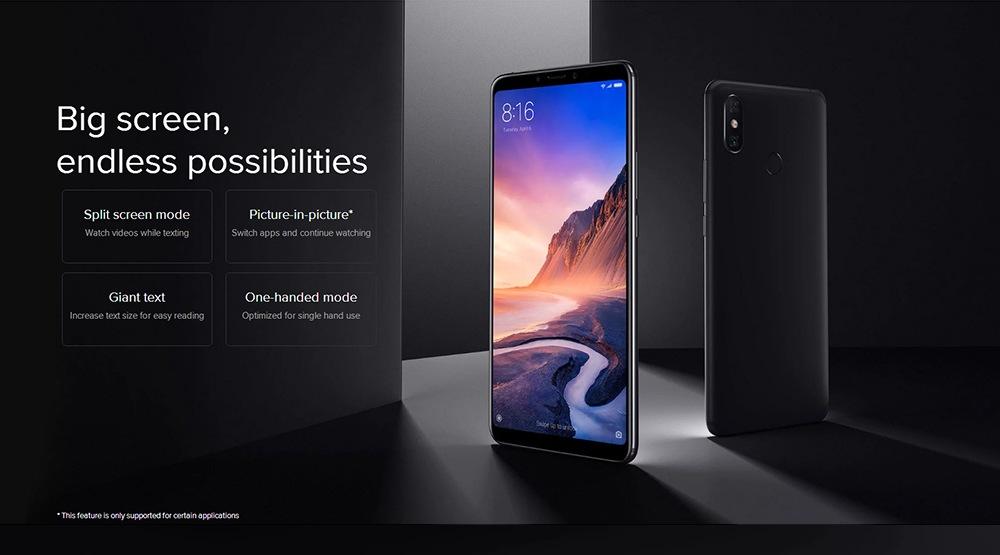 Xiaomi Mi Max 3 Black Friday presentación