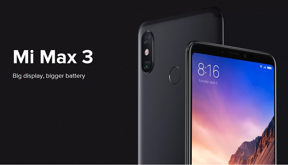 Xiaomi Mi Max 3 Black Friday