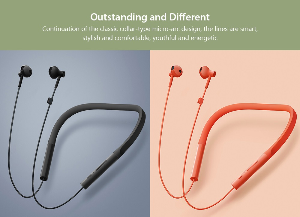Xiaomi Necklace Bluetooth Earphone diseño colores