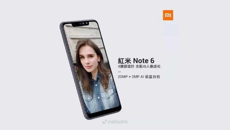 Xiaomi Redmi Note 6 Lanzamiento 6 de Noviembre