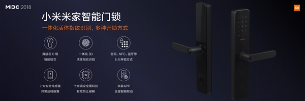 Xiaomi presentó a la nueva Mijia Smart Door Lock