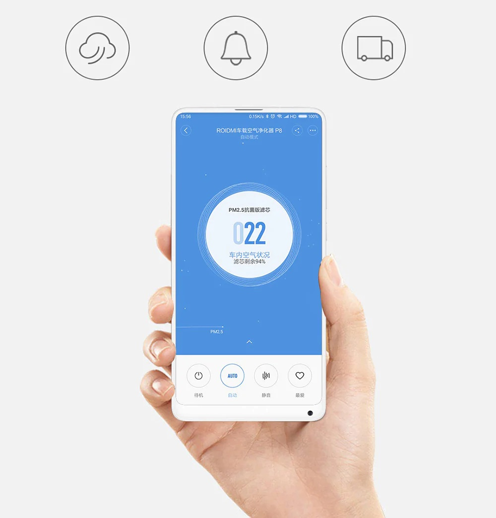 Xiaomi ROIDMI Car Air Purifier - APP Control
