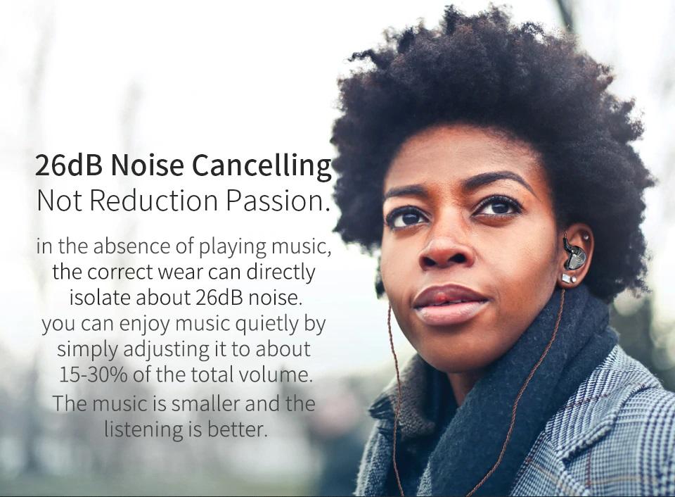 Auriculares KZ AS06 cancelación de ruido