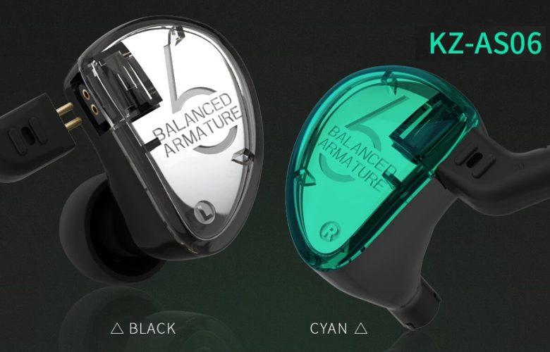 Auriculares KZ AS06 destacada