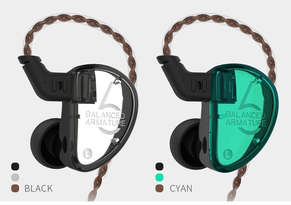 Auriculares KZ AS06 diseño colores