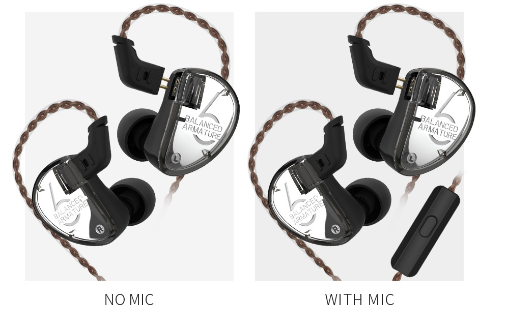 Auriculares KZ AS06 diseño reemplazable