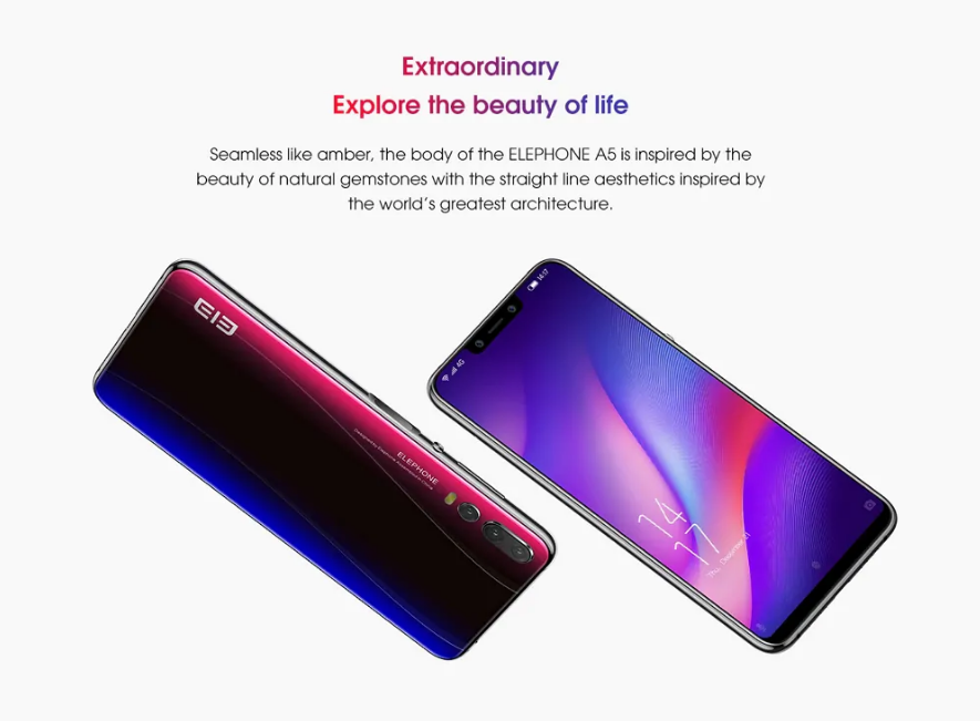 Elephone A5 Diseño