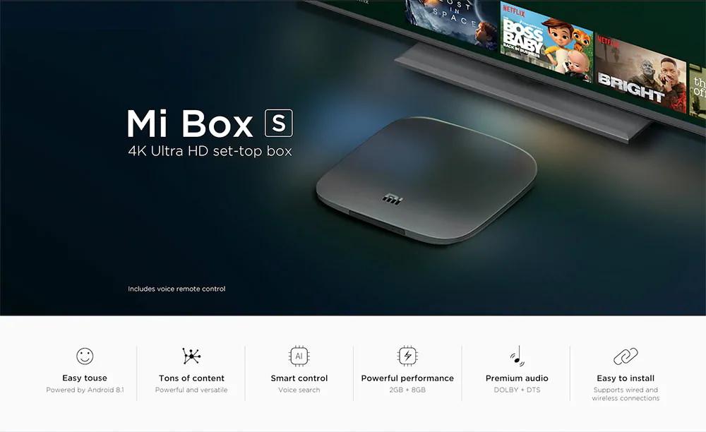 Gearvita promoción navideña Xiaomi Mi Box S TV Box