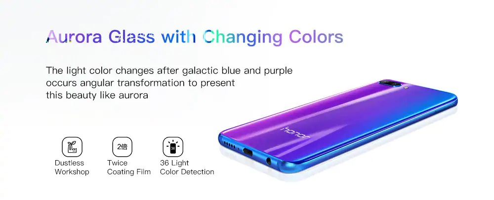 HUAWEI Honor 10 diseño colores