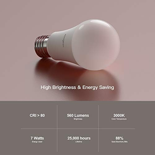 Koogeek Bombilla LED E27 control de brillos