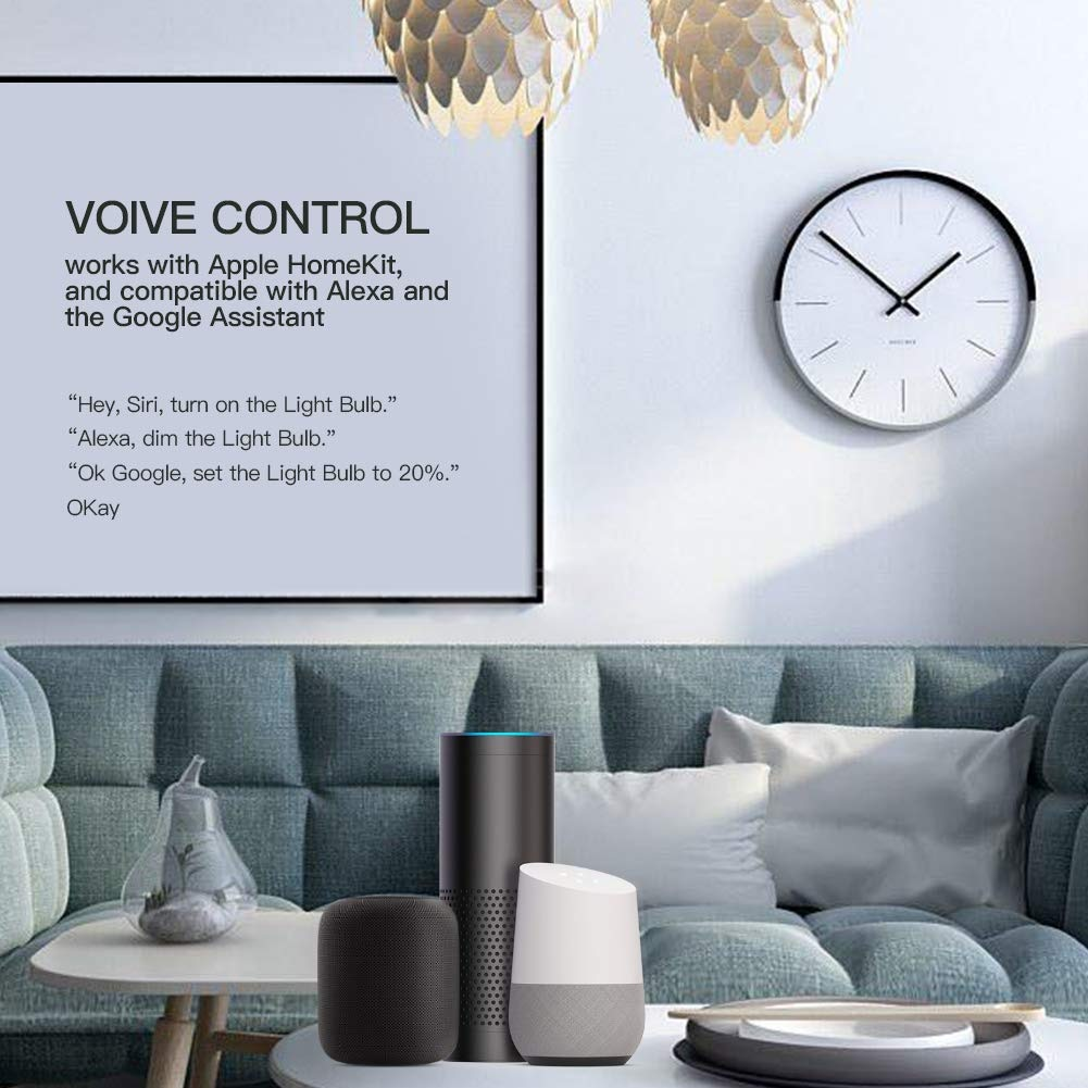 Koogeek Bombilla LED E27 control de voz