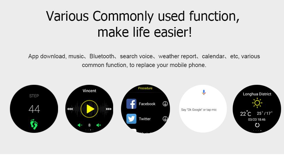 Lemfo Lem8 Smartwatch: Conectividades