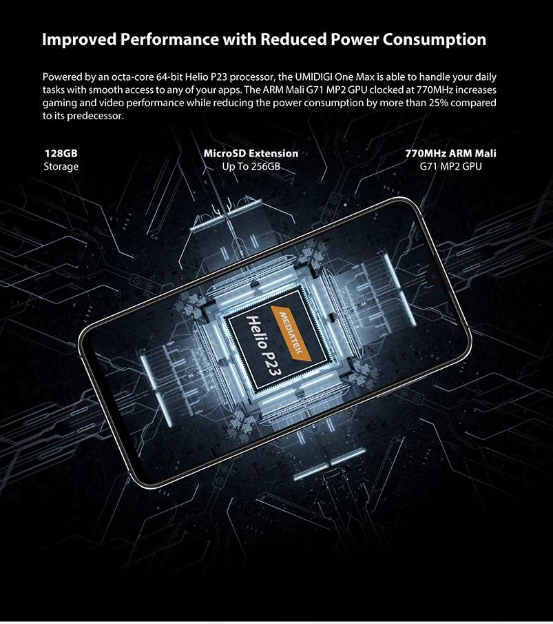 UMIDIGI One Max Hardware y sistema operativo