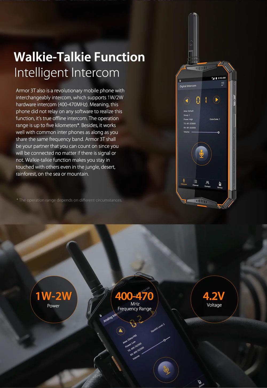 Ulefone Armor 3T función walkie talkie