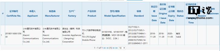 Xiaomi certificado 3C