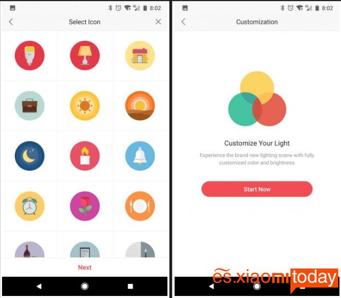 Xiaomi Yeelight Lightstrip Plus - Aplicación móvil