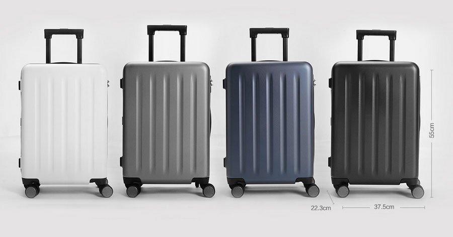 90 Points Lite Suitcase Dimensiones y Colores