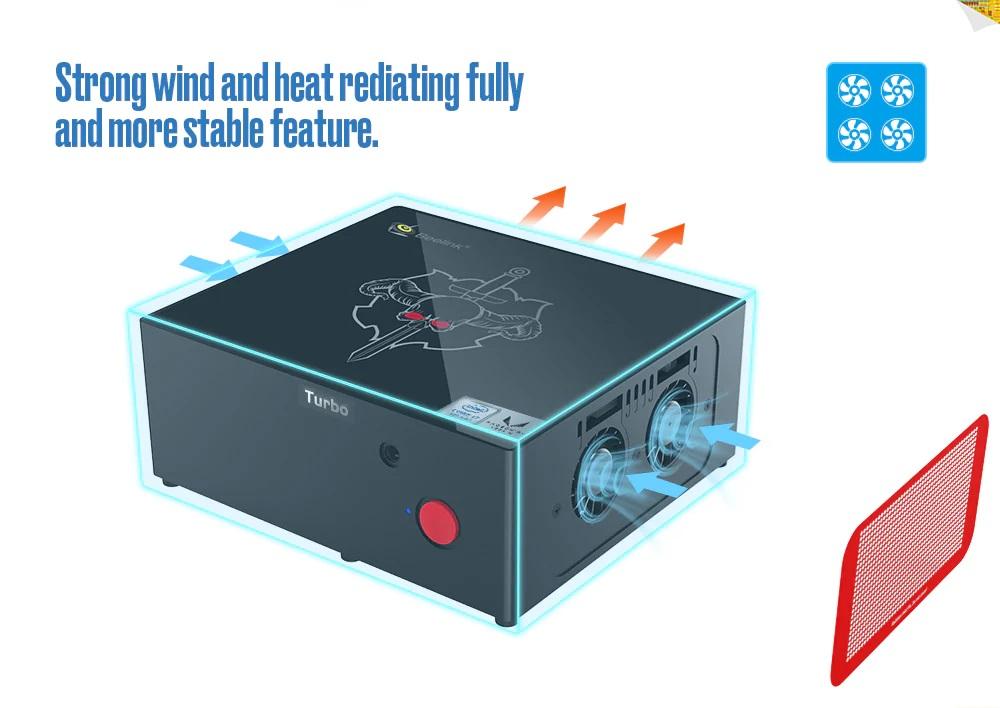 Beelink Kaby G7 diseño sonido