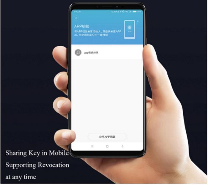 Cerradura Xiaomi M2Características app