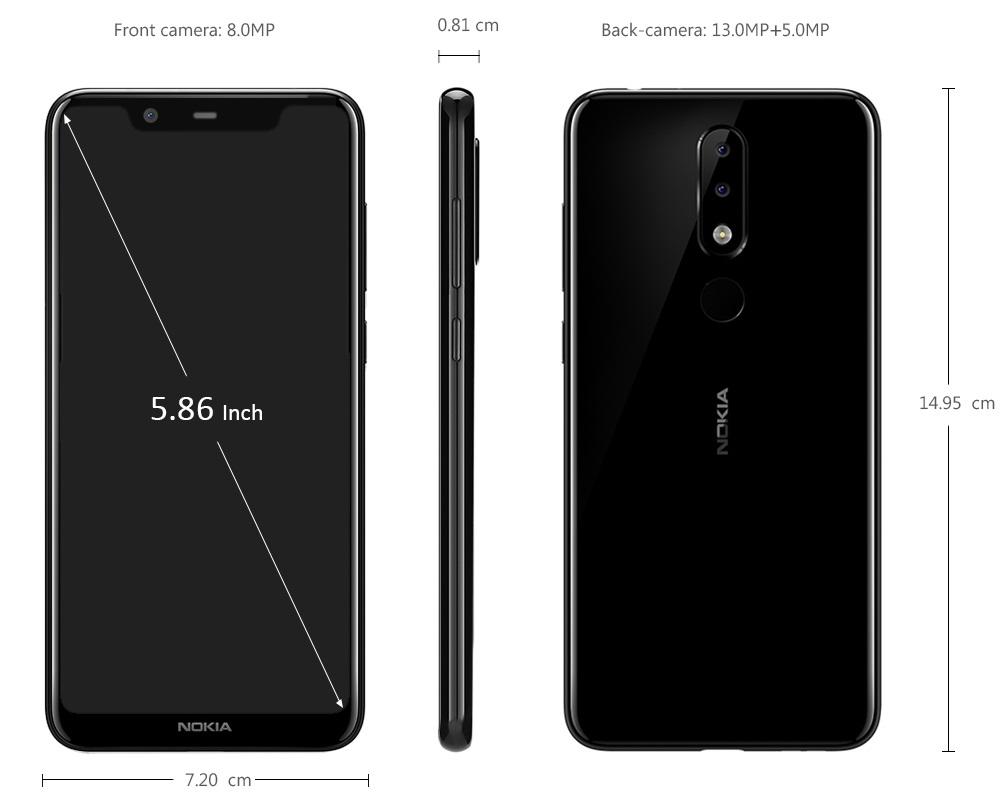 Nokia X5 diseño