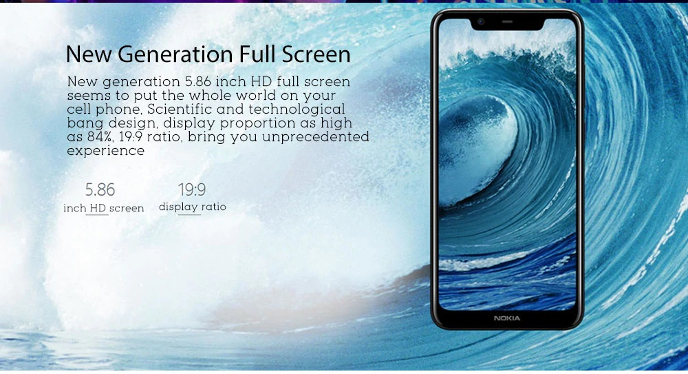 Nokia X5 pantalla