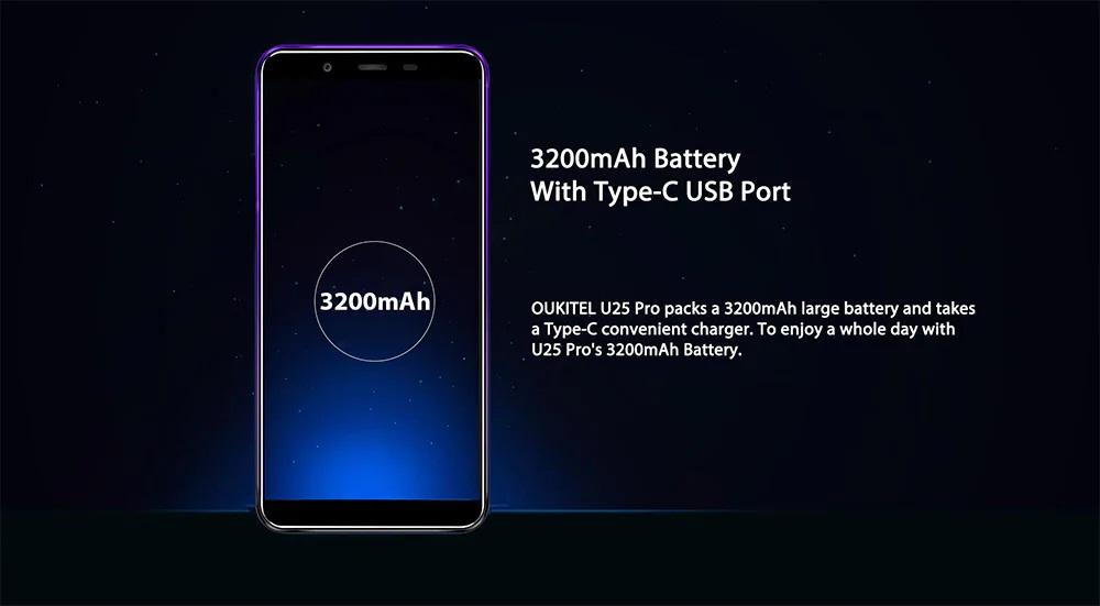 OUKITEL U25 Pro batería