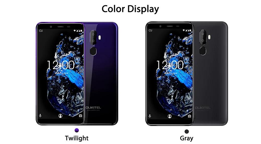 OUKITEL U25 Pro diseño colores