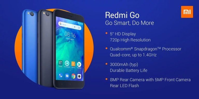 Características que se podrán ver en el Redmi Go