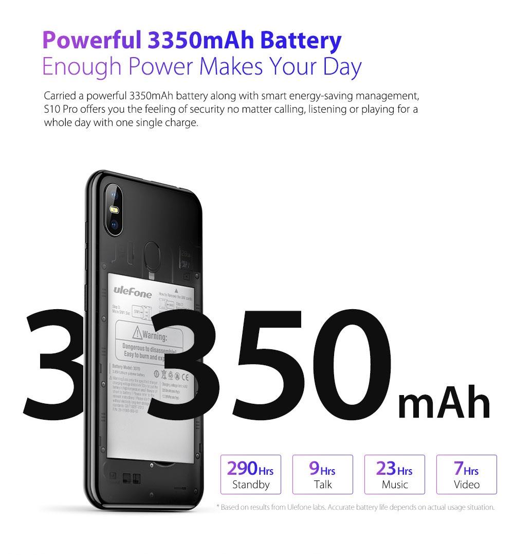 Ulefone S10 Pro batería