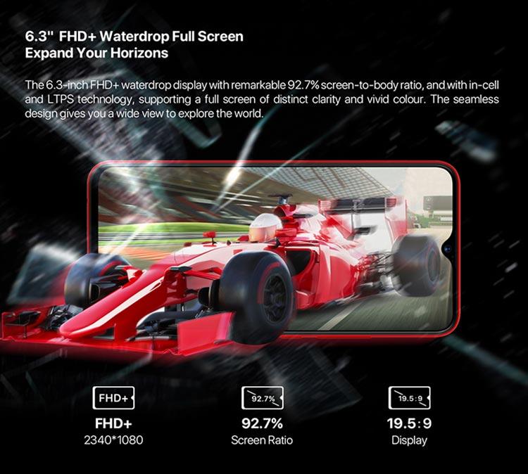 Umidigi F1 pantalla