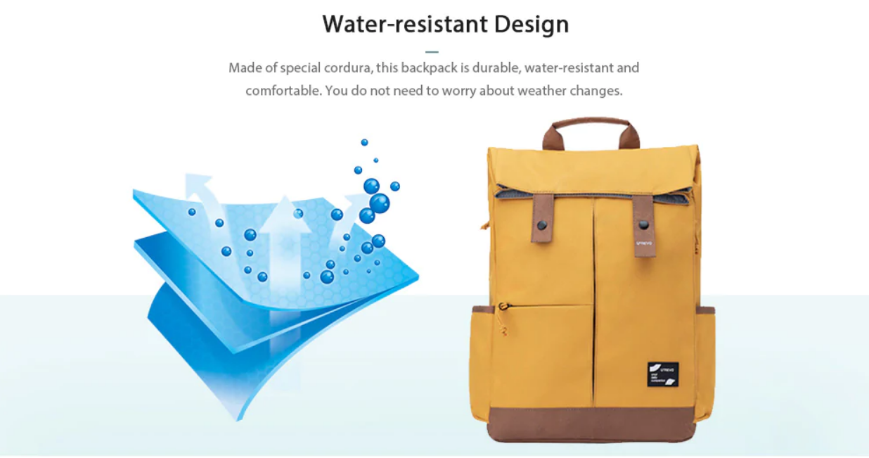 Xiaomi U'REVO Energy College Casual Backpack Aprueba de agua