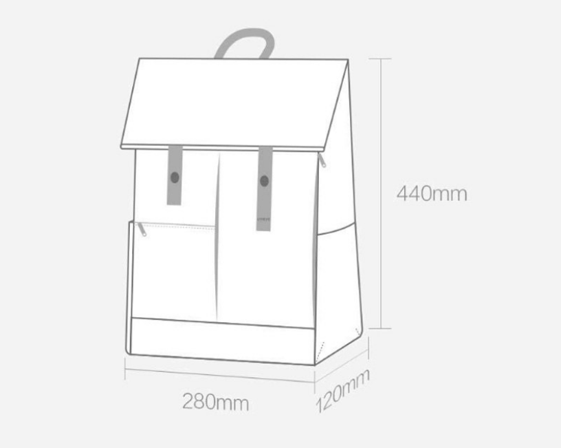 Xiaomi U'REVO Energy College Casual Backpack Tamaño