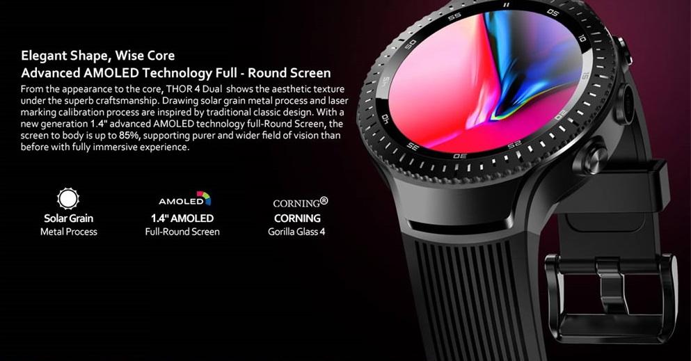 Zeblaze THOR 4 Dual 4G diseño
