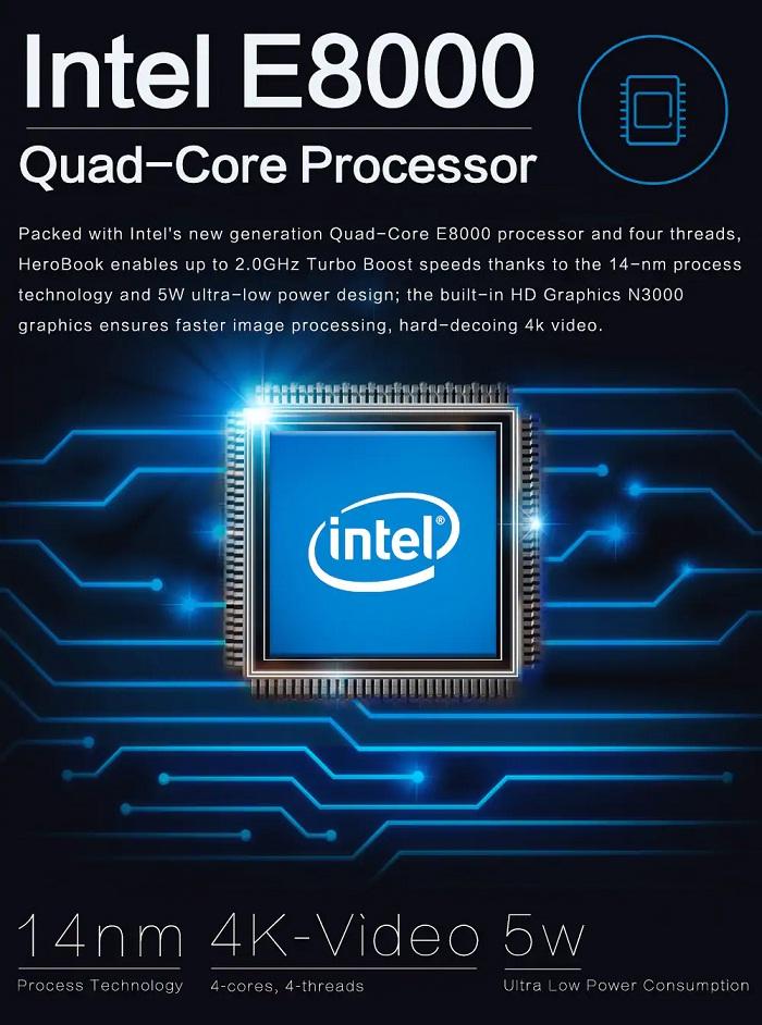 CHUWI hero book CWI532 procesador