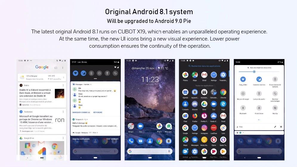 CUBOT X19Sistema Operativo