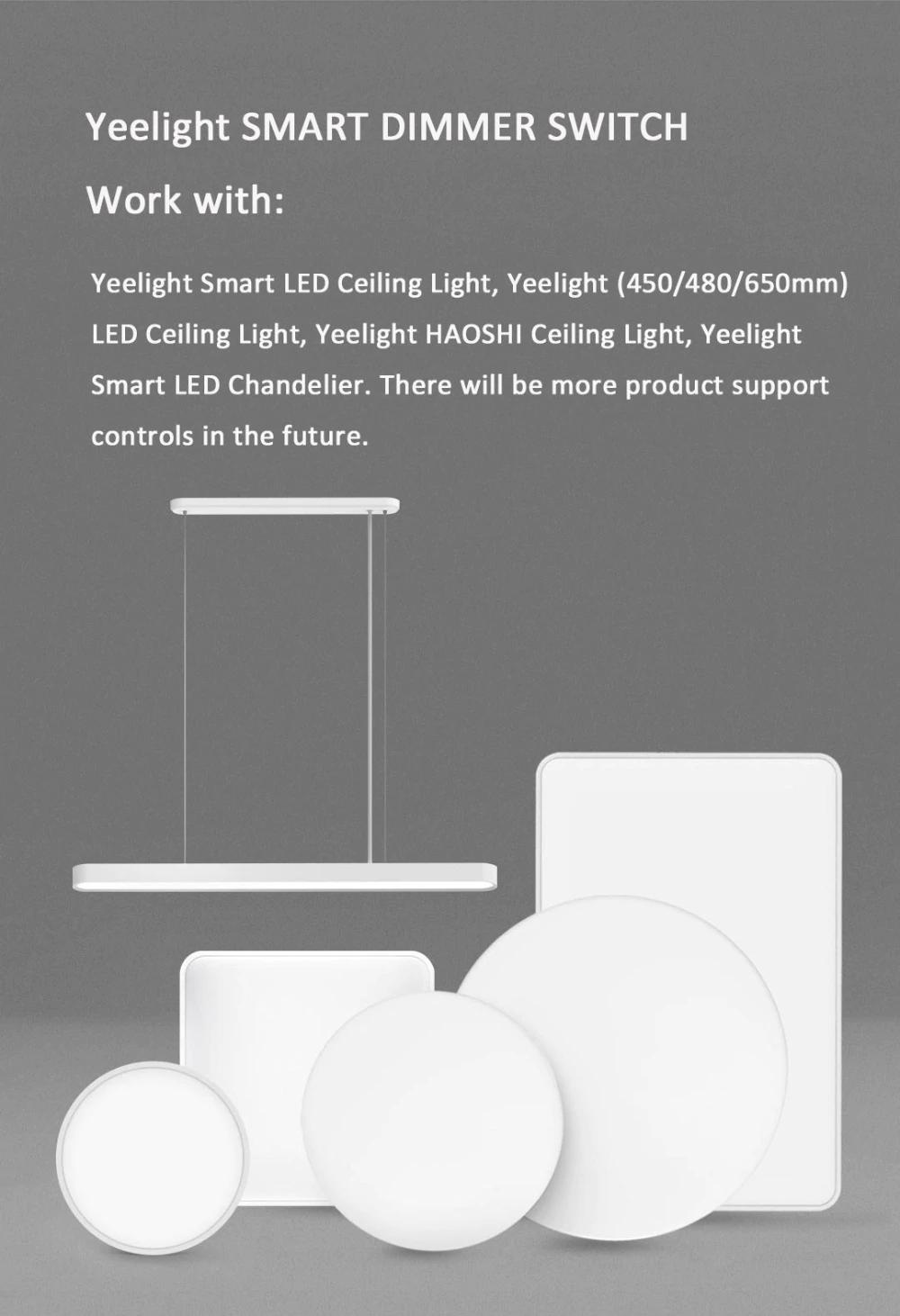 Xiaomi Yeelight Smart Dimmer Switch: Compatibilidad
