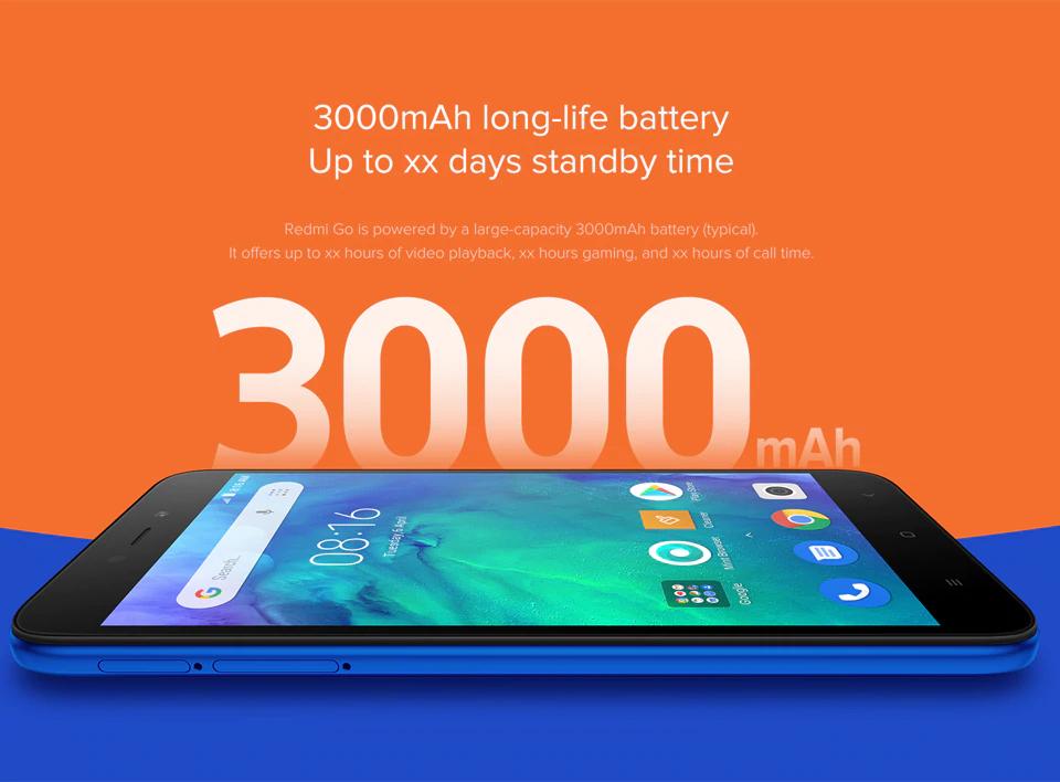 Xiaomi Redmi Go batería