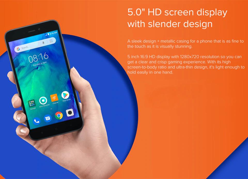 Xiaomi Redmi Go pantalla