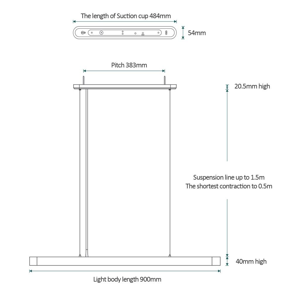 Xiaomi Yeelight Meteorite LED diseño dimensiones