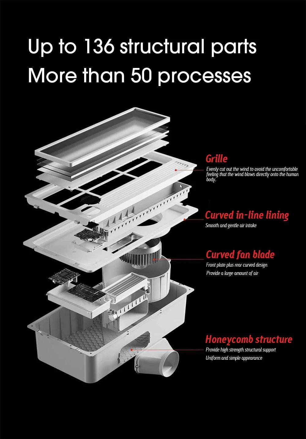 XiaomiYeelightSmart BathHeater Diseño 136 piezas