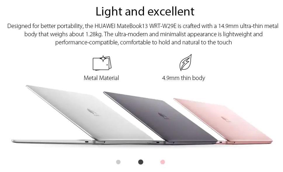 Huawei Matebook 13 diseño