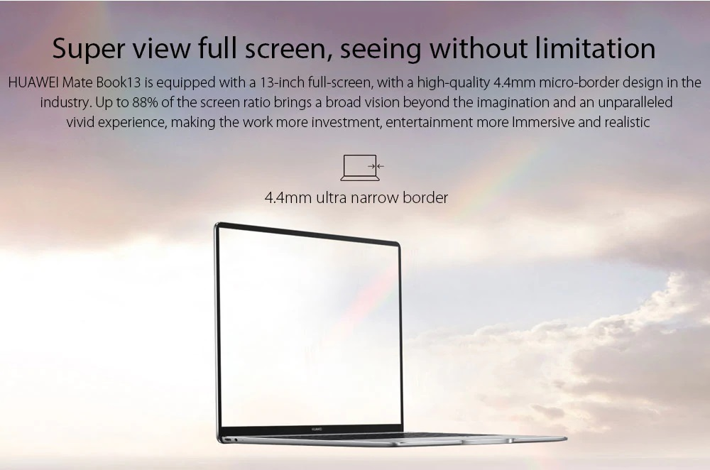 Huawei Matebook 13 display