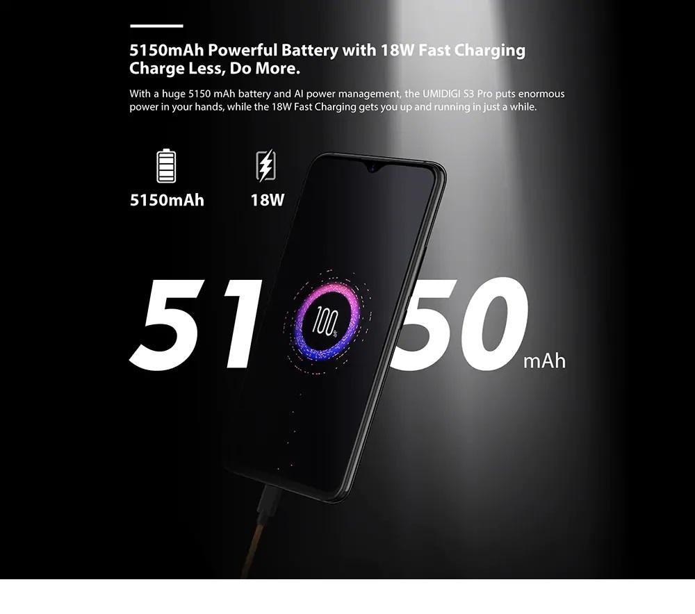 UMIDIGI S3 Pro batería