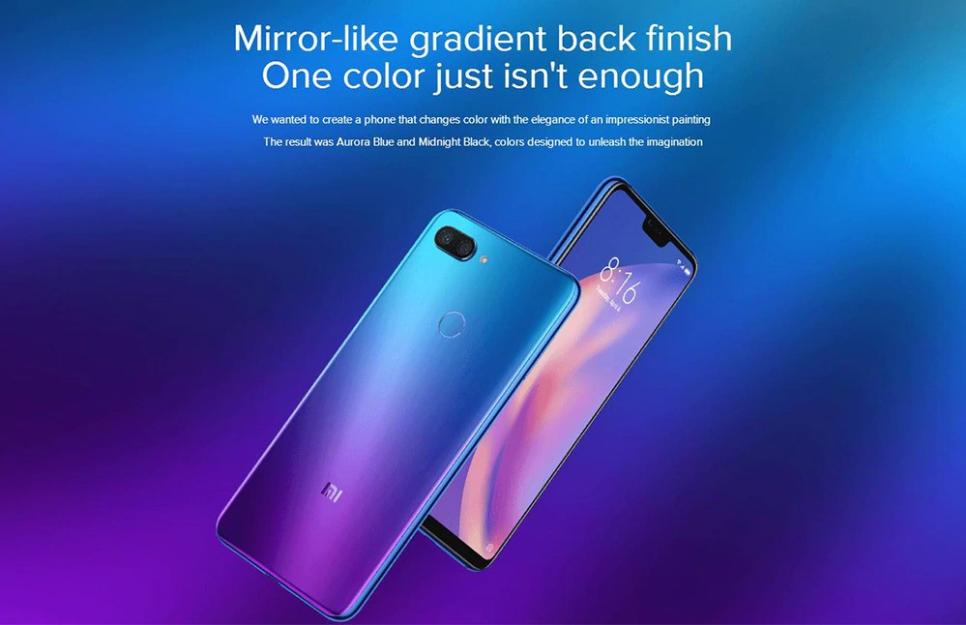 Xiaomi Mi 8 Lite: Viene con un hermoso diseño degradado